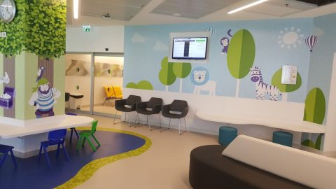 מיתוג מחלקת ילדים בבית חולים אסותא אשדוד