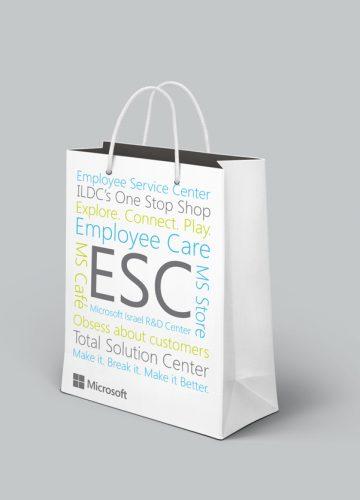 עיצוב שקית לחנות Microsoft