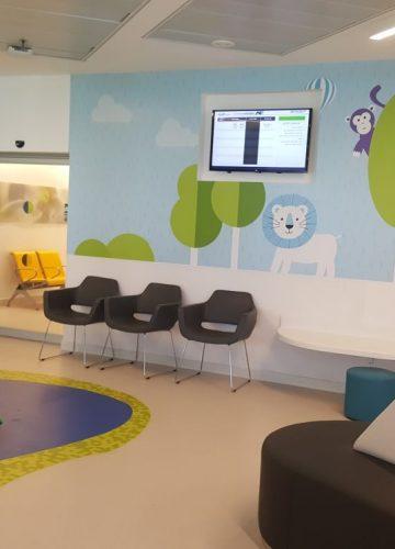 מיתוג מחלקת ילדים בבית חולים אסותא אשדוד, משרד אדריכלים – אבי שטרנפלד